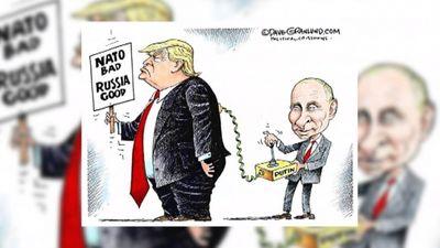 Karikatūru apskats: NATO slikts, Krievija - laba?