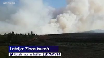 Otro dienu turpina dzēst kūdras un meža ugunsgrēku Talsu novadā