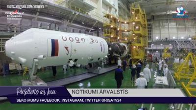 """SKS ieradies kosmosa kuģis """"Sojuz"""""""