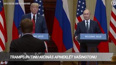 Tramps Putinu aicinās apmeklēt Vašingtonu