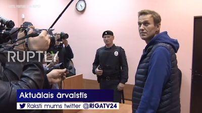 Aleksejam Navaļnijam piespriež jaunu 20 dienu arestu