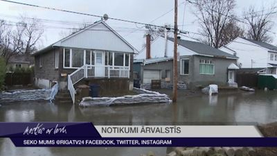 Monreālā evakuēti tūkstošiem cilvēku pārrauta aizsprosta dēļ