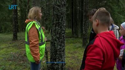 Skolēni dodas ekspedīcijā un izzina mežu
