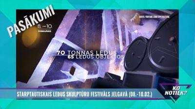 Šajā nedēļas nogalē: Starptautiskais ledus skulptūru festivāls Jelgavā