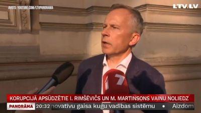 Korupcijā apsūdzētie Rimšēvičš un Martinsons savu vainu noliedz