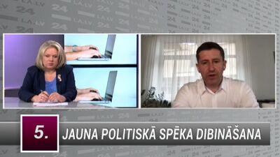 Vjačeslavs Dombrovskis par jauna politiskā spēka dibināšanu