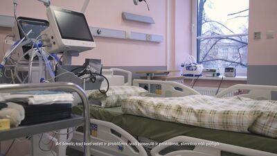 Kadri no Rīgas 1. slimnīcas Covid-19 nodaļas