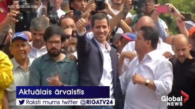 Huans Gvaido pasludina sevi par Venecuēlas prezidenta pienākumu izpildītāju