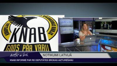 KNAB informē par RD deputātes Brokas aizturēšanu