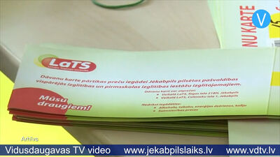 Jēkabpils izglītojamajiem sāks dalīt dāvanu kartes