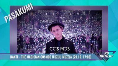 Šovakar - Dantes Pecolli maģisko triku šovs Cosmos ilūziju muzejā!