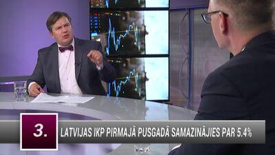 Pie kādiem nosacījumiem kritums Latvijas IKP būs īss?
