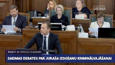 Speciālizlaidums: Saeimas debates un balsojums par Juraša izdošanu kriminālvajāšanai 3. daļa