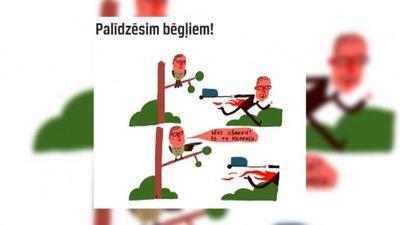 Karikatūru apskats: Bēgošais Ušakovs