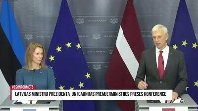 Speciālizlaidums: Latvijas un Igaunijas premjerministru preses konference