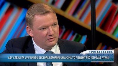 Smiltēns par finanšu sektora reformu