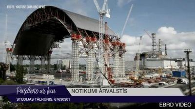 Černobiļā atklāts jaunais kupols pār avarējušo AES