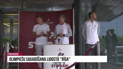 """08.08.2021 Olimpiešu sagaidīšana lidostā """"Rīga"""""""