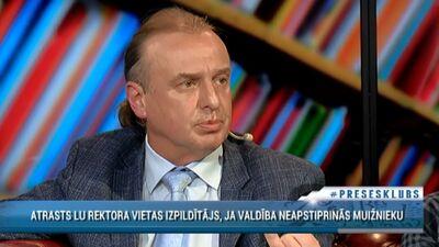 Ērglis: Tie cilvēki, kas kultivē sliktās ziņas par LU, nedara labu Latvijai