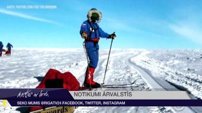 Amerikānis kļuvis par pirmo cilvēku, kurš vienatnē ar kājām šķērsojis Antarktīdu