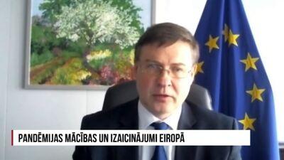 Dombrovskis: Reālākais ceļš, kā virzīties prom no esošās situācijas, ir iedzīvotāju vakcinācija
