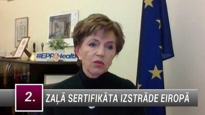 Vaidere: Cilvēkiem ir bažas par zaļā sertifikāta izstrādi Eiropā