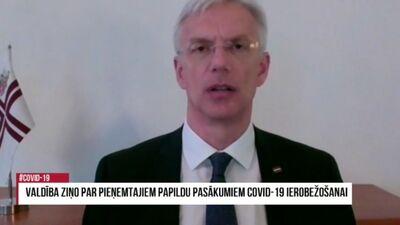 Valdība ziņo par pieņemtajiem papildu pasākumiem COVID-19 ierobežošanai