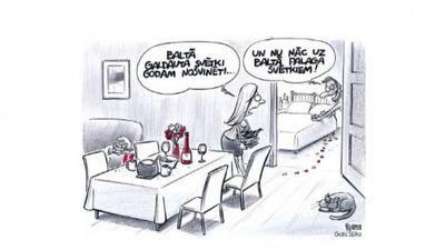 Karikatūru apskats: Baltā palaga svētki..