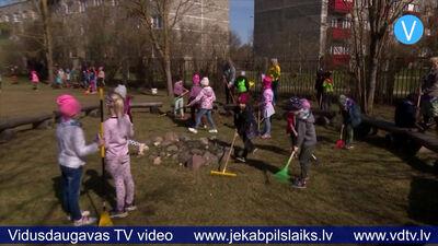"""Jēkabpils bērnudārzā """"Auseklītis"""" – Lielā talka nedēļas garumā"""