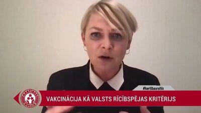 """""""Esam triecienkomanda, kurai ir ļoti konkrēts uzdevums,"""" Eva Juhņēviča par Vakcinācijas biroju"""
