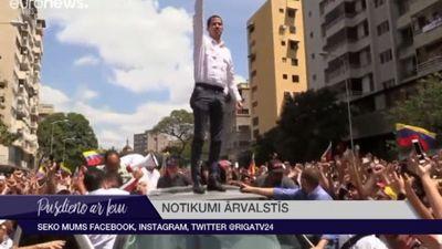 Gvaido aicina venecuēliešus protestēt pret elektroapgādes pārtraukumu