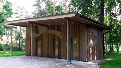 Saulkrastos par 100 574 eiro (!) pārbūvēta sabiedriskā tualete