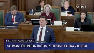 Artusa Kaimiņa runa Saeimas sēdē