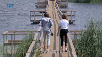 Ludzā izveidots garākais pontonu tilts Latvijā