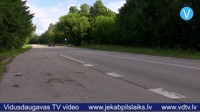 Atjaunos divus Daugavpils šosejas posmus