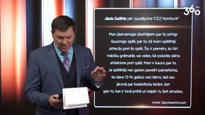 Jānis Gailītis atvainojas skatītājiem!