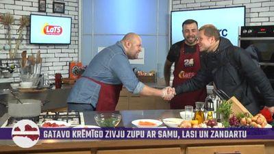 Īsts, dzīvs, nemontēts: Roberto un viņa viesim virtuvē negaidīti pievienojas Ralfs Eilands!