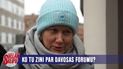 Rīdzinieki par Davosas forumu