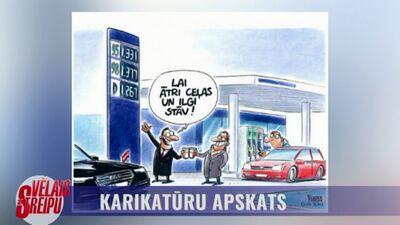 Karikatūru apskats: Lai ātri ceļas un ilgi stāv!
