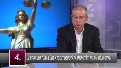 Andris Ameriks komentē Prokuratūras lūgumu atcelt EP deputāta Ušakova imunitāti