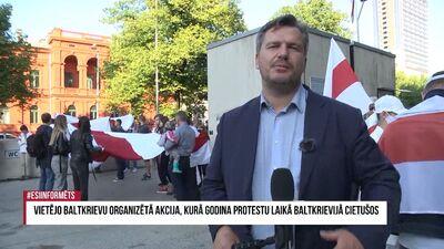 Vietējo baltkrievu organizēta akcija, kurā godina protestu laikā Baltkrievijā cietušos 2. daļa
