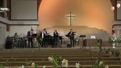 Lieldienu dievkalpojums no Rīgas Mateja baznīcas