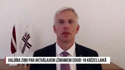 Valdība ziņo par aktuālajiem lēmumiem COVID-19 krīzes laikā