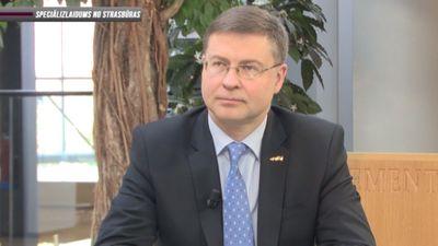 Dombrovskis: Šobrīd 'Brexit' atlikšana vērtējama pozitīvi