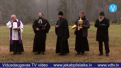 Jēkabpilī iesvēta jauno kapu teritoriju