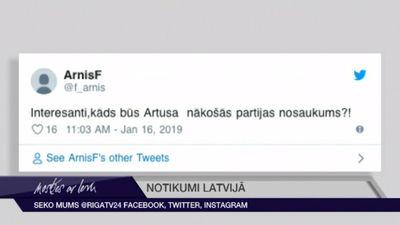 """Tvīti par šķelšanos partijā """"KPV LV"""""""